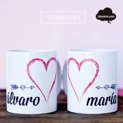 Taza personalizable para parejas