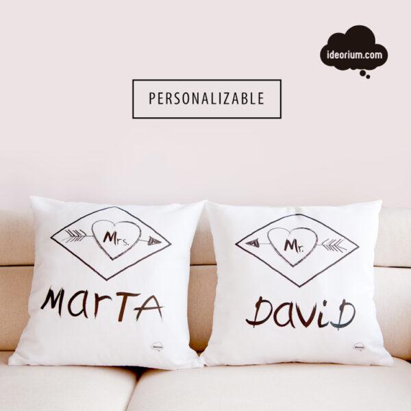 Cojín pareja personalizado