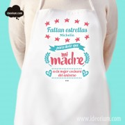 Delantal faltan estrellas michelín para decir que mi madre es la mejor cocinera del universo