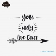 Para pared con you only live once