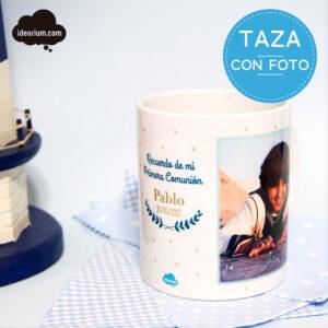 Taza Comunión niño personalizada con foto
