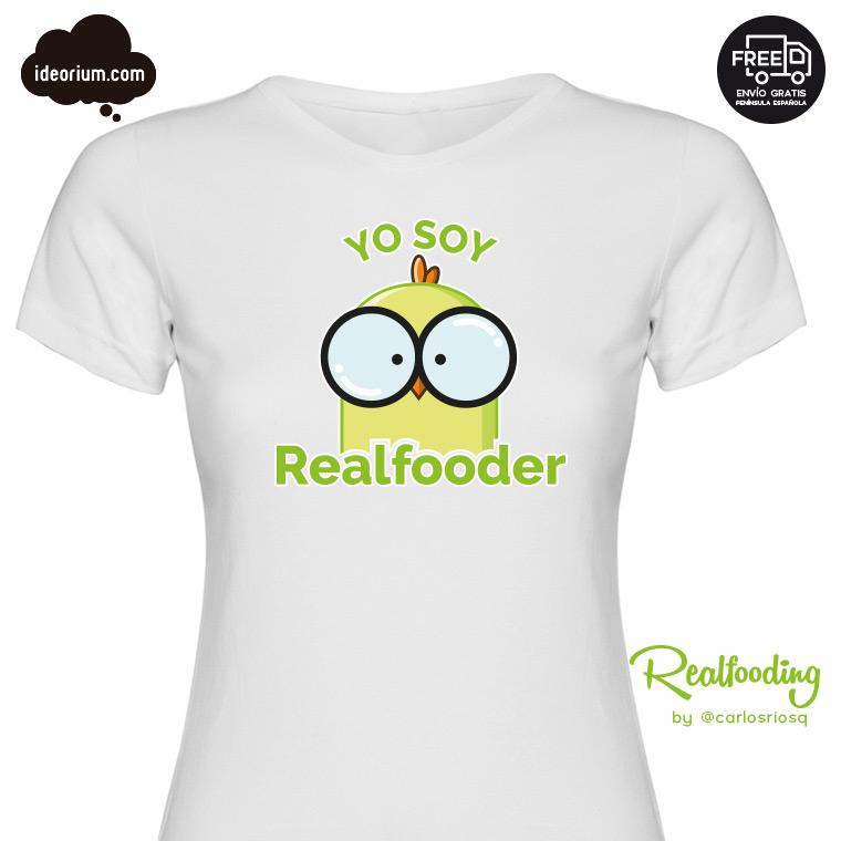 Camiseta Yo soy Realfooder mujer