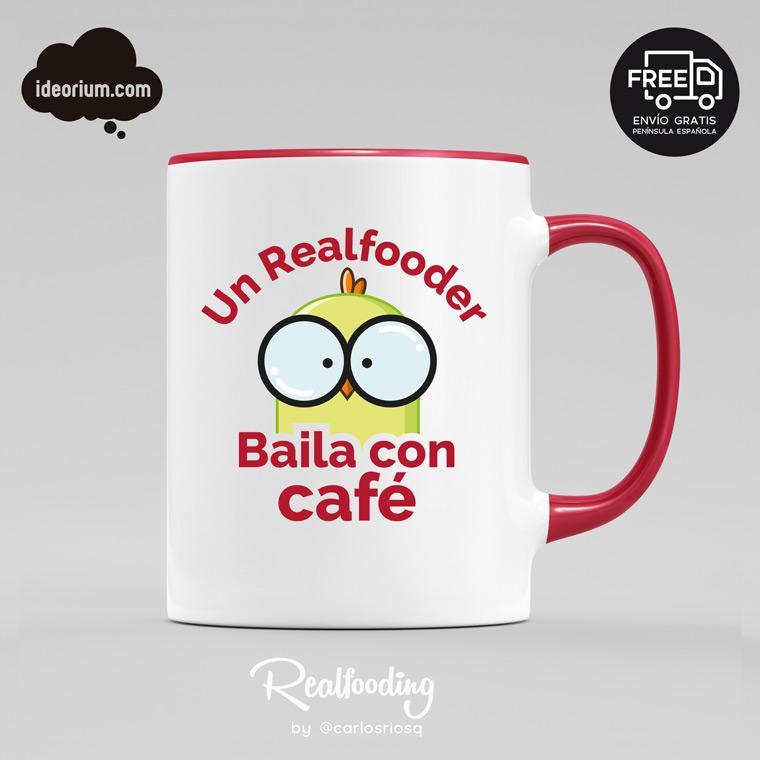 Taza un Realfooder baila con café