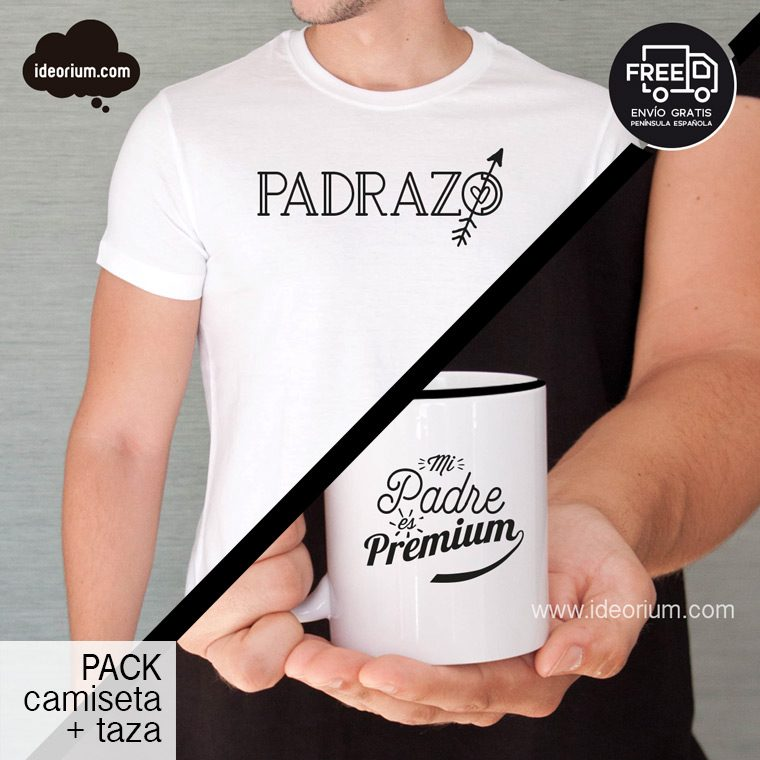 Pack camiseta + taza Padrazo Premium