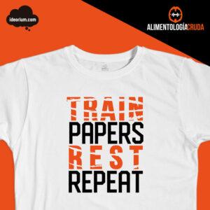 Camiseta train papers