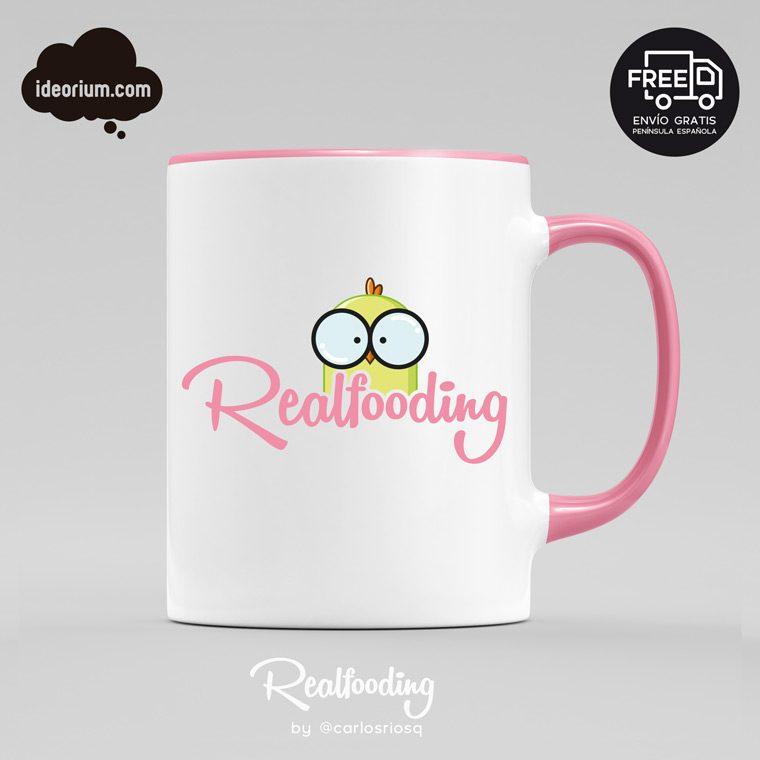 Taza Realfooding rosa