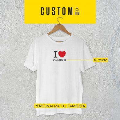 Camiseta personalizada I love freedom
