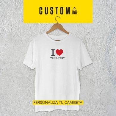 Camiseta personalizada I love...