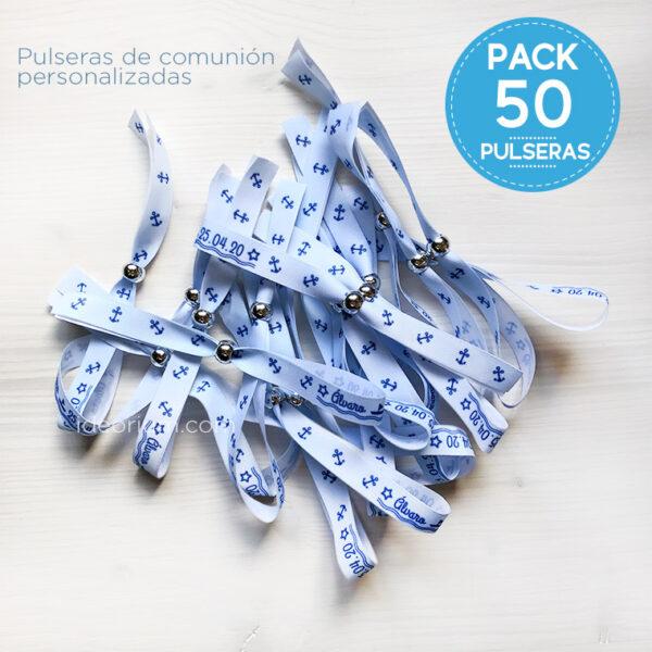 Pulseras Primera Comunión personalizadas - pack 50