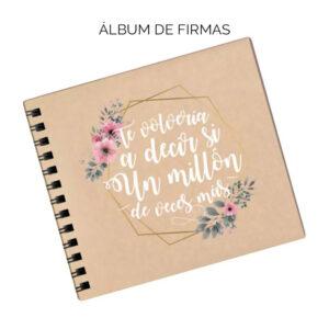 Álbum firmas boda
